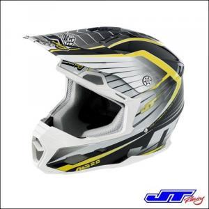 CASCO CROSS JT RACING ALS 2.0 Helmet White Black Chartreuse